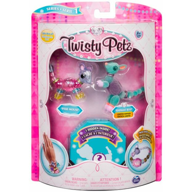 Twisty Petz Pixie Mouse, Radiant Roo and Hidden Surprise