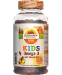 Sundown Naturals Kids Omega-3 with Vitamin D3 Gummies