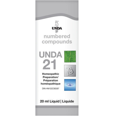 UNDA Numbered Compounds UNDA 21 Homeopathic Preparation