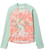 Columbia Sandy Shores Printed Long Sleeve Sunguard Magnolia Floral 2T-4T