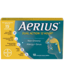 Aeirus Dual Action 12 Hour Non-Drowsy Allergy+Sinus Small