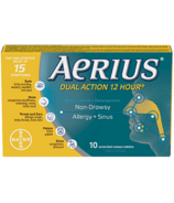 Aerius Dual Action 12 Hour Non-Drowsy Allergy+Sinus