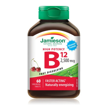 Jamieson Vitamin High Potency B12 Sublingual Tablets