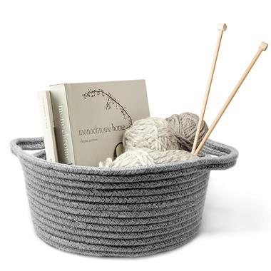 Natural Living Cotton Basket Grey