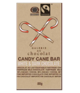 Galerie au Chocolat Fairtrade Dark and White Chocolate Candy Cane Bar