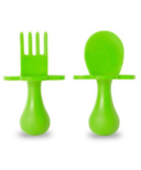 Grabease First Spoon and Fork Set Green