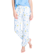 PJ Salvage Smiley Tie Dye Banded Pants Blue