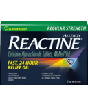 Reactine Regular Strength Reactine 36 Tablets