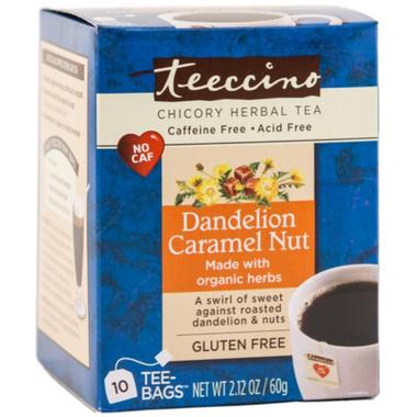 Teeccino Dandelion Caramel Nut Roasted Herbal Tea