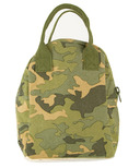 Fluf Camo Zipper Organic Lunch Bag