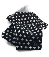 OLLI + LIME Black Cross Security Blanket Lovey