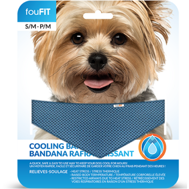 FouFit Cooling Bandana Small Medium Grey
