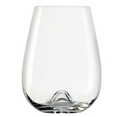 Anchor Stolzle 2-Piece Stemless Vulcano Wine Glass