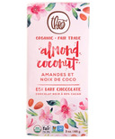 Theo Organic & Fair Trade Almond Coconut Dark Chocolate Bar