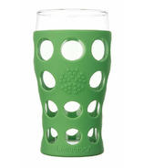 Lifefactory Large Beverage Glass Grass Green
