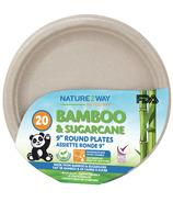 NatureZway 9 Inch Round Plates