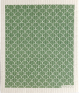 Ten & Co. Swedish Sponge Cloth Scallop Sage on White
