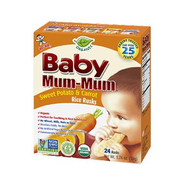Hot-Kid Baby Mum-Mum Organic Sweet Potato & Carrot Rice Rusks