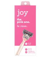 joy Razor Handle + 2 Razor Blade Refills Pink