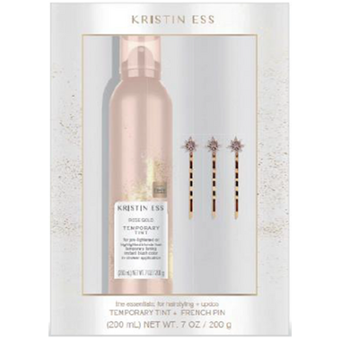 Kristin Ess Hair Set Rose Gold Temporary Tint + Jeweled Bobby Pins