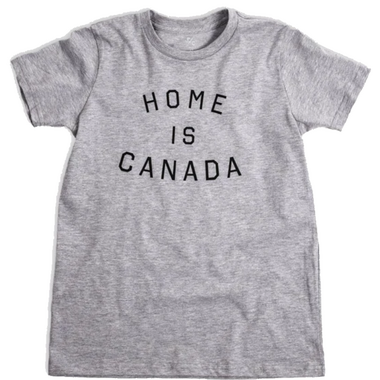 Peace Collective Home is Canada Kids T-Shirt Grey