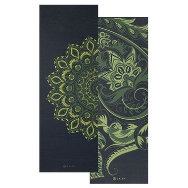 Gaiam Premium Reversible Print Yoga Mat 6mm Paisley Medallion