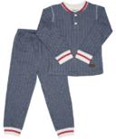 Juddlies Organic Cottage Pajamas Lake Blue