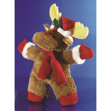Burgham\'s Plush Dog Toy Holiday Reindeer