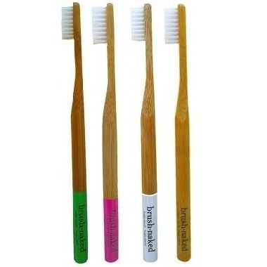 Brush Naked Bamboo Toothbrush 4-Pack Kids Soft