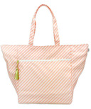 Logan and Lenora Waterproof Carryall Tote Blush Stripe