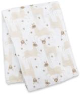 Lulujo Swaddle Blanket Muslin Cotton Modern Llama