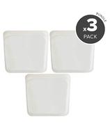 Stasher Reusable Storage Bag Trio Clear Bundle
