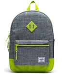 Herschel Supply Heritage Backpack Youth Raven Crosshatch & Lime Green