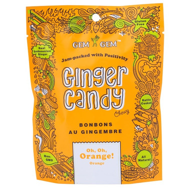 Gem Gem Orange Ginger Candy