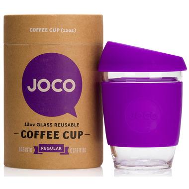 JOCO Glass Reusable Coffee Cup in Purple