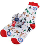 Little Blue House Men's Socks in Ornament Wild Hockey Night