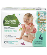 Seventh Generation Sensitive Skin Baby Diapers with Animal Prints
