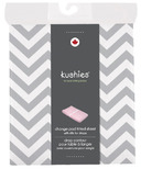 Kushies Flannel Change Pad Fitted Sheet Chevron Grey