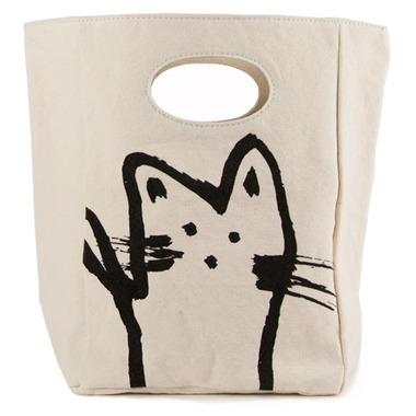 Fluf Hey Cat! Organic Lunch Bag
