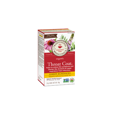 Traditional Medicinals Organic Lemon Echinacea Throat Coat Tea