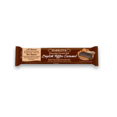 Barkley\'s All Natural English Toffee Chocolate Caramel Bar