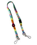 Happy Adjustable Lanyard With Safety Breakaway Clasp Tie Dye