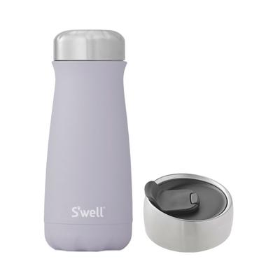 S\'well Purple Garnet Traveler Bottle + Commuter Lid Bundle
