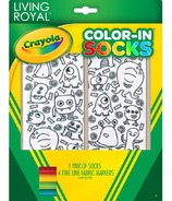 Crayola Living Royal Color-In Socks Monster Party