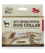 Kikkerland Kobe Cross Stitch Dog Collar Small