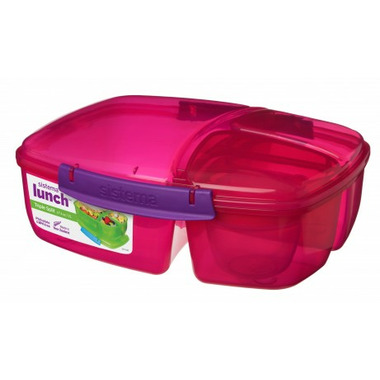 Sistema Triple Split with Yogurt Pot Pink