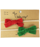 Baby Wisp Headband Velvet Bows Red & Emerald