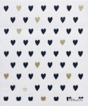 Ten & Co. Swedish Sponge Cloth Gold & Black Hearts