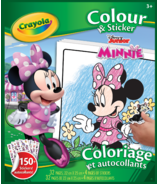 Crayola Colour & Sticker Book Minnie Mouse