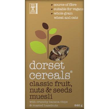 Dorset Cereals Classic Fruit, Nuts & Seeds Muesli Banana & Hazelnut